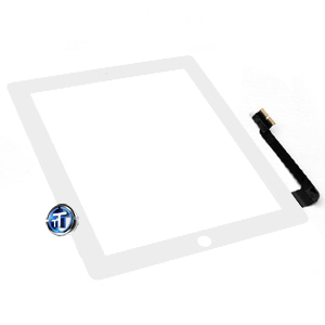 iPad 3 Digitizer Touch White Complete with Home Button, Home Button Flex, Camera Bracket, Adhesive (High Quality)
