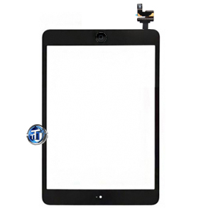 iPad Mini Digitizer with IC Chip, Home Button Flex and Home Button in black (original)