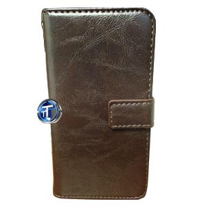 iPhone 5, 5S Luxury Designer Leather Flip Case in Brown