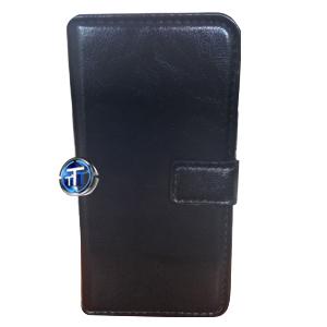 iPhone 5, 5S Luxury Designer Leather Flip Case in Black