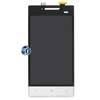HTC Windows Phone 8S LCD and Digitizer Assembly in Black and White with Navigation Flex (Original)