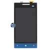 HTC Windows Phone 8S LCD and Digitizer Assembly in Black and Blue with Navigation Flex (Original)