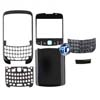 Blackberry 8520 Front Cover with Lens, Bottom Clip Bezel, Keypad and Back Cover in Black
