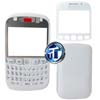 Blackberry 9320 Front Cover with Lens, Bottom Clip Bezel, Keypad and Back Cover in White
