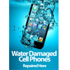 Water Damaged Mobile Cell Phone Fully Submerged in Water Poster Gloss Laminated (choose your language)