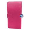 iPhone 5, 5S Luxury Designer Leather Flip Case in Hot Pink