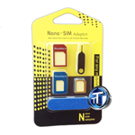 5 IN 1 Nano SIM Card to Micro Standard Adapter Adaptor Converter Set for iPhone